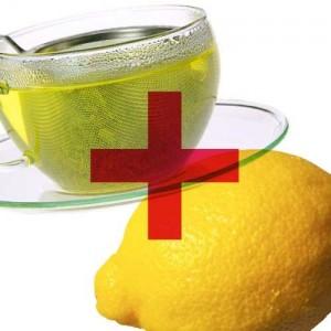 green tea + lemon