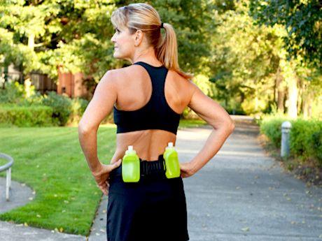 drinking fluids when running